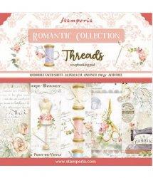 Stamperia/8x8インチペーパーパッド/ Romantic Threads