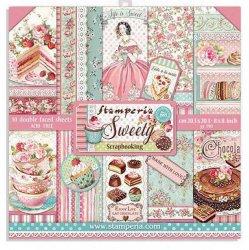 Stamperia/8x8インチペーパーパッド/Sweety