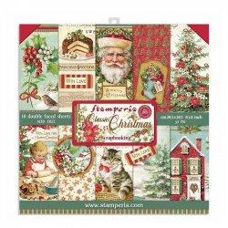Stamperia/8x8インチペーパーパッド/Classic Christmas