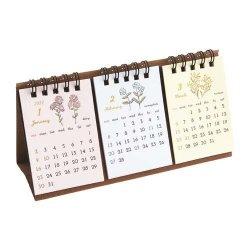 2022/3ヵ月卓上カレンダー【フラワー】