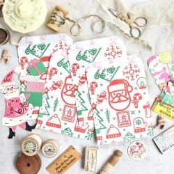 イギリス/雑貨屋さんの袋/Christmas【5枚】