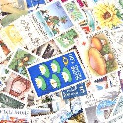 フィンランドの使用済み切手10枚