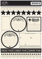 Jennibowlin/カードストックステッカー【Apothecary Stickers- Black】