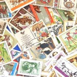 世界の馬の使用済み切手10枚