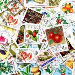 世界のフルーツ使用済み切手10枚