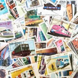 世界の電車/使用済み切手10枚