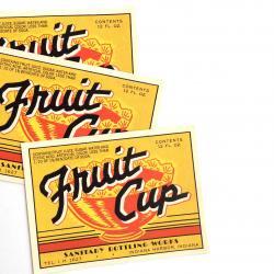 アメリカ/ヴィンテージソーダボトルラベル/FruitCup