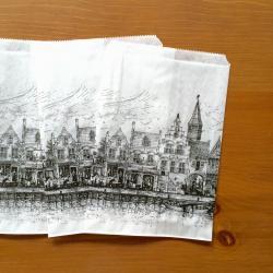 オランダのマルシェの袋【街並み】