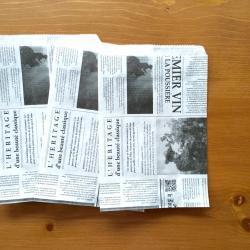 オランダのマルシェの袋【ニュースペーパー】