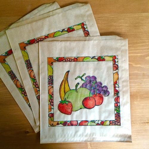 フランスのマルシェ袋【フルーツ】