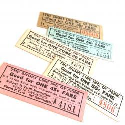 USA/1950'sヴィンテージバスチケット【5枚】