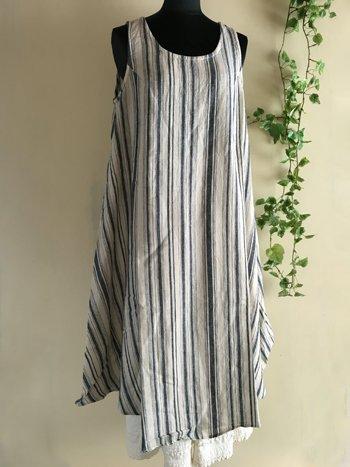 マルクドブロデュー(Marque de BRODEUSES,シュシュドママン) Cotton Linen stripe Sleeveless dressの商品写真3