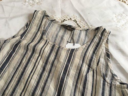 マルクドブロデュー(Marque de BRODEUSES,シュシュドママン) Cotton Linen stripe Sleeveless dressの商品写真4