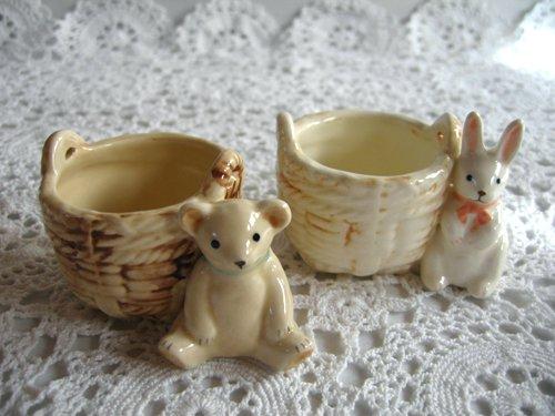 マニー プチメゾン 陶器 ミニバスケットの商品写真です