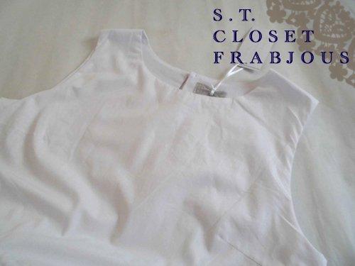 s.t.closet frabjous(エスティークローゼット フラビシャス) オーバーレースワンピース ホワイトの商品写真4