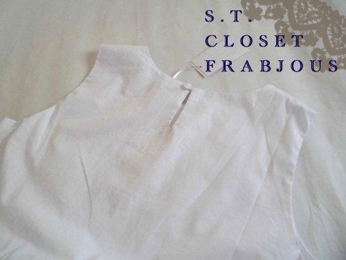 s.t.closet frabjous(エスティークローゼット フラビシャス) オーバーレースワンピース ホワイトの商品写真5