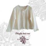 Maglia bud rose(マーリア バドローズ)サークルケミカル バラボタンボレロ 生成り