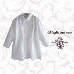 Maglia bud rose(マーリア バドローズ) カットワークホワイトシャツ