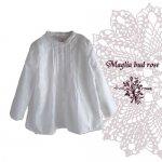 Maglia bud rose(マーリア バドローズ) オーバーレースホワイトシャツ