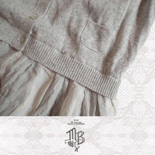Marque de BRODEUSES(マルクドブロデュー) コットンリネンストライプ スリーブレスドレスの商品写真6