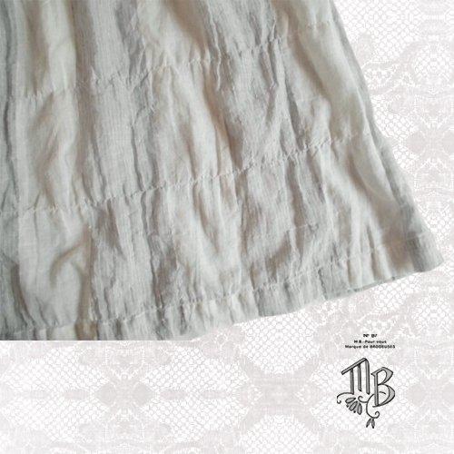 Marque de BRODEUSES(マルクドブロデュー) コットンリネンストライプ スリーブレスドレスの商品写真7