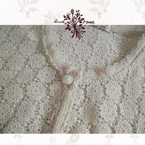 Maglia bud rose(マーリア バドローズ) フラワーレースカーディガン 生成りの商品写真6