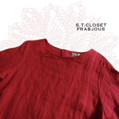 s.t.closet frabjous(エスティークローゼット フラビシャス) 黒ベルトリネンワンピ の商品写真4
