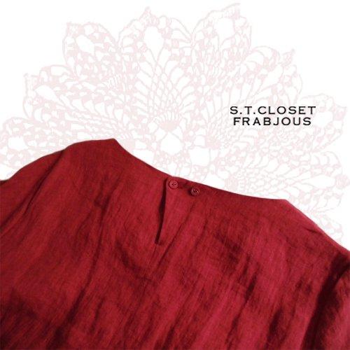 s.t.closet frabjous(エスティークローゼット フラビシャス) 黒ベルトリネンワンピ の商品写真5