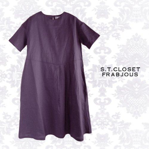 s.t.closet frabjous(エスティークローゼット フラビシャス) プリーツワンピース の商品写真です