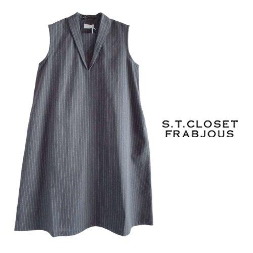 s.t.closet frabjous(エスティークローゼット フラビシャス) ノースリーブワンピース の商品写真です