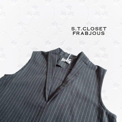 s.t.closet frabjous(エスティークローゼット フラビシャス) ノースリーブワンピース の商品写真4