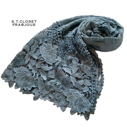 s.t.closet frabjous(エスティークローゼットフラビシャス) ボタニカルレースストールの商品写真2
