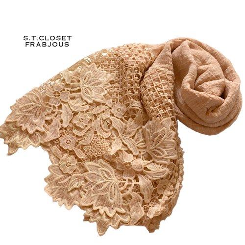 s.t.closet frabjous(エスティークローゼットフラビシャス) ボタニカルレースストールの商品写真3