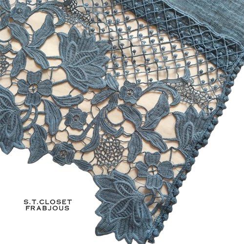 s.t.closet frabjous(エスティークローゼットフラビシャス) ボタニカルレースストールの商品写真4