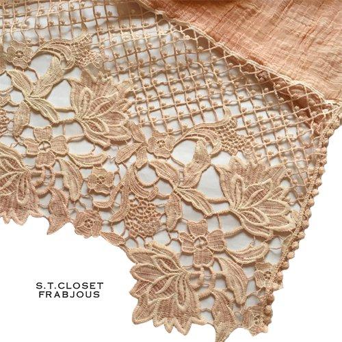 s.t.closet frabjous(エスティークローゼットフラビシャス) ボタニカルレースストールの商品写真5