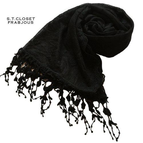 s.t.closet frabjous(エスティークローゼットフラビシャス) ボタニカルレースストールの商品写真です