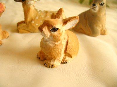 ティアラ 木彫り動物 うさぎの商品写真です