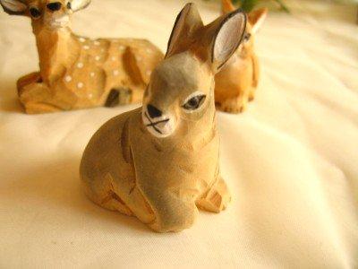 ティアラ 木彫り動物 うさぎの商品写真2