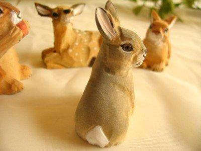 ティアラ 木彫り動物 うさぎの商品写真4