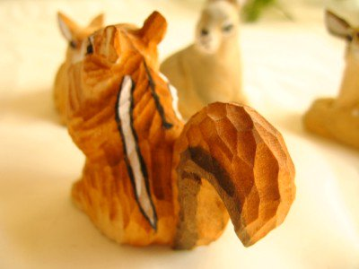 ティアラ 木彫り動物 りすの商品写真2