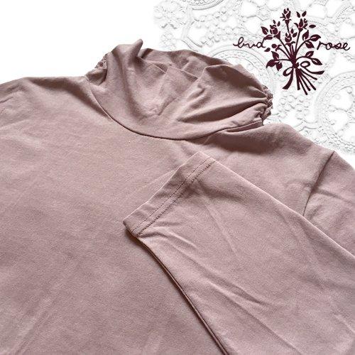 Maglia bud rose(マーリア バドローズ) サイドシャーリング タートルネックカットソー の商品写真4