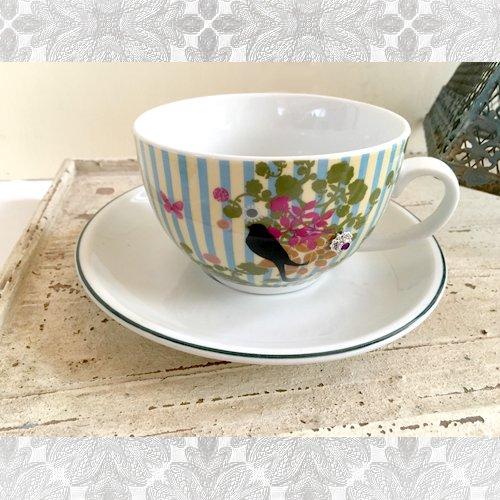 Hoff Interieur(ホフ・インテリア) カップ&ソーサー 陶器 ドイツ製 輸入雑貨 ラインストーン ビジュー付きの商品写真です