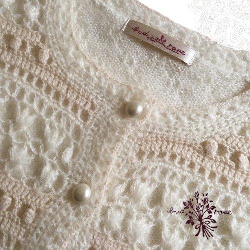Maglia bud rose(マーリア バドローズ) モヘアカーディガン ホワイトの商品写真5
