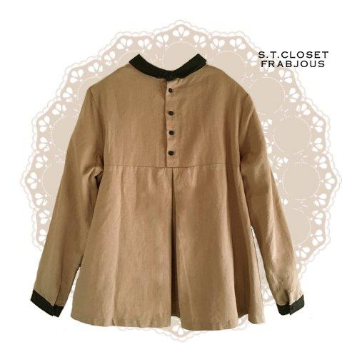 s.t.closet frabjous(エスティークローゼットフラビシャス) クレリック襟付きブラウスの商品写真2