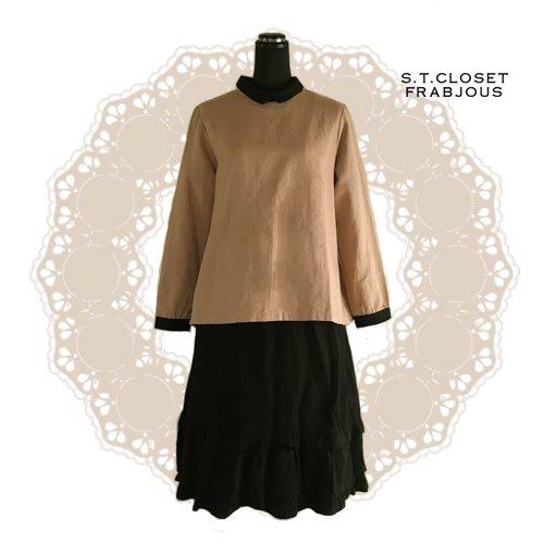 s.t.closet frabjous(エスティークローゼットフラビシャス) クレリック襟付きブラウスの商品写真3