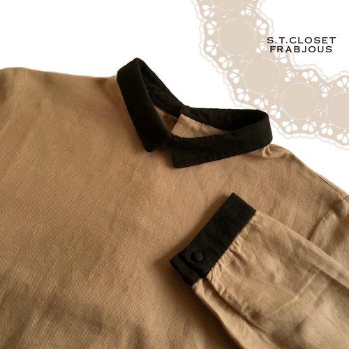 s.t.closet frabjous(エスティークローゼットフラビシャス) クレリック襟付きブラウスの商品写真4