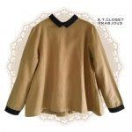 s.t.closet frabjous(エスティークローゼットフラビシャス) クレリック襟付きブラウス