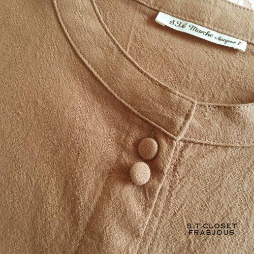 s.t.c marche(エスティークローゼットマルシェ)コットン カットワーク袖ワンピースの商品写真5