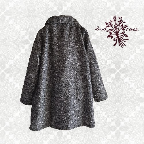 Maglia bud rose(マーリア バドローズ)ヘリンボーンギャザー襟コートの商品写真2