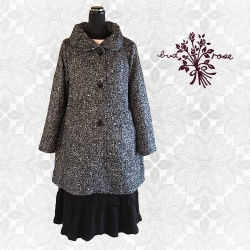 Maglia bud rose(マーリア バドローズ)ヘリンボーンギャザー襟コートの商品写真3